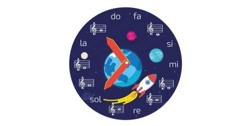 Reloj de notas musicales- Descarga gratis - Código: 5020