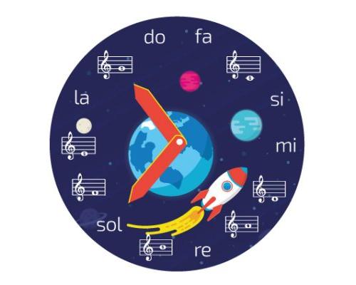 Reloj de notas musicales- Descarga gratis – Código: 5020